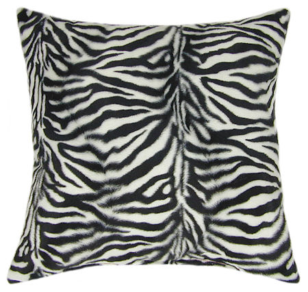 Zebra Print Throw Pillow - Toss Pillows, Couch Pillows, Sale