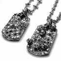 Vieux Carre White and Black Diamond Pendants