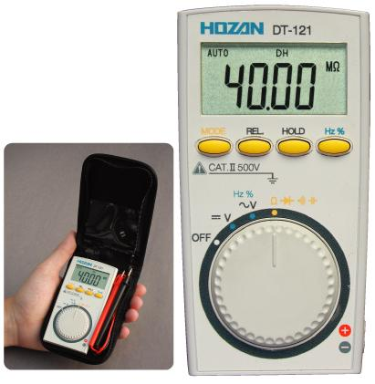 HOZAN DT-121-TA Digital Multimeter with Calibration Certificate [DISCON]