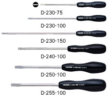 "HOZAN D-250-100 Slotted Screwdriver, -5.0mm, 4"" Shaft [DISCON]"