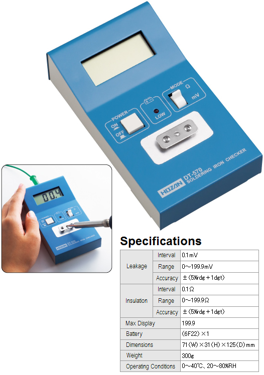 HOZAN DT-570-TA Soldering Iron Tester with Calibration Certificate