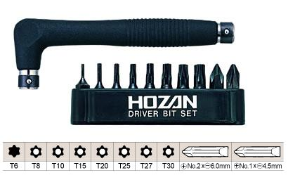 HOZAN W-81 Torx Wrench (Driver Bit) Set