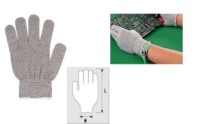 HOZAN F-61-S Anti-Static Gloves, pair  SIZE: S