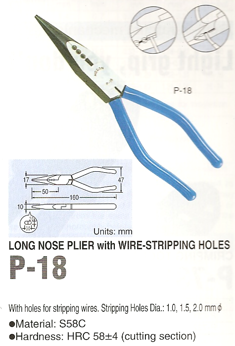 HOZAN P-18 Long Nose Pliers (Discontinued)