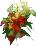 #16035 14 BUDS SMALL ROSE BOUQUET