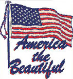 "Apparel T-Shirts American Pride Printed: ""America the Beautiful, USA"""