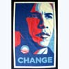"Election T-shirt Barack Obama: ""Change"""