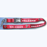 Team Logo Lanyard (Necklace Keychain) - NFL Atlanta Falcons