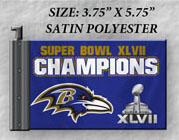 Antenna Flags - Baltimore Ravens - NFL Super Bowl XLVII Champions