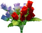 #16017 9 BUDS ROSE BOUQUET