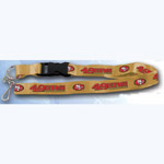Team Logo Lanyard (Necklace Keychain) - NFL San Francisco 49ers