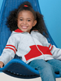 Toddler Zipper Hoodie with Stripes