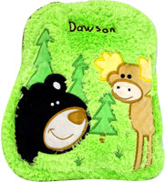 Personalized Bear and Moose Toddler Backpack-orange