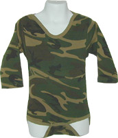 Long Sleeved Cotton Infant Onesie  in Camo Print with Bulk Discounts