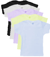 Cotton Short Sleeved Baby Tees in Bulk Of  6
