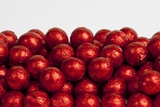 Red Foiled Milk Chocolate Balls (10 Pound Case)