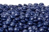 Dark Blue Milk Chocolate M&M's Candy (10 Pound Case)