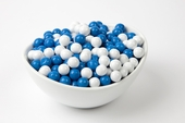 Blue and White Sixlets (25 Pound Case)