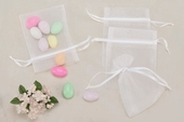 White Sheer Organza Party favor Bags