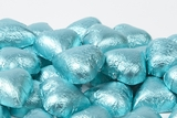 Tiffany Blue Foiled Milk Chocolate Hearts (5 Pound Bag)