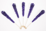 Grape Wrapped Rock Candy Sticks (10 Pieces)