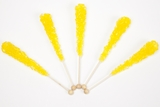 Lemon Wrapped Rock Candy Sticks (10 Pieces)