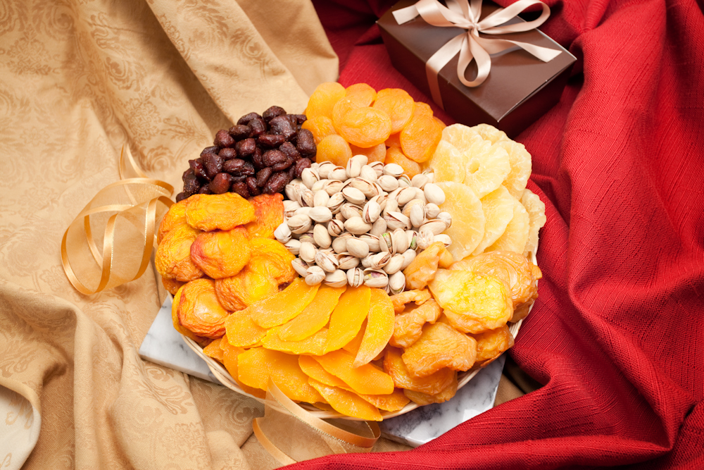 Christmas nut gift baskets free shipping