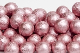 Light Pink Foiled Milk Chocolate Balls (1 Pound Bag)