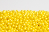Pearl Yellow Sugar Candy Beads (1 Pound Bag)