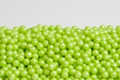 Pearl Lime Green Sugar Candy Beads (25 Pound Case)