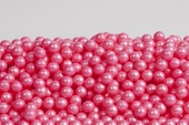Pearl Bright Pink Sugar Candy Beads (25 Pound Case)
