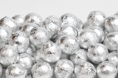 Silver Foiled Milk Chocolate Balls (1 Pound Bag)