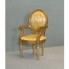 Arm Chair with Gold Fabric, Gold    <br />CLA10819