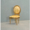 Side Chair, Gold with Gold Fabric   <br />CLA10820
