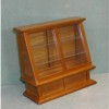 Display Case,  Glass Front, Walnut     <br />  M0327
