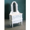 Dresser with Mirror, White.       T5238
