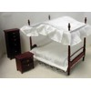 Canopy Double Bedroom Set, Mahogany  <br />TLF109