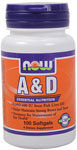 Vitamin A & D 10,000/400 IU - 100 Softgels, NOW Foods
