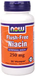 Flush Free Niacin - 250 mg - 90 VCaps, NOW Foods