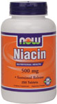 Niacin 500 mg - 250 Tabs, NOW Foods