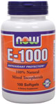 Vitamin E-1000 IU - 100 Sgels, NOW Foods