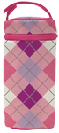 Insulated Bottle Bag, BPA  PVC Free, Pink Argyle