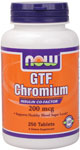 GTF Chromium 200 mcg Yeast Free - 250 Tabs, NOW Foods