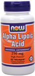 Alpha Lipoic Acid 250 mg - 60 VCaps, NOW Foods