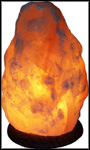 Salt Crystal Lamp - Medium With Wooden Base