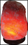 Salt Crystal Lamp - Large With Wooden Base