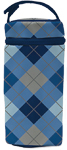 Insulated Bottle Bag, BPA  PVC Free, Blue Argyle