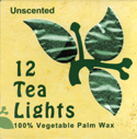 Unscented Tea Lights, 12 Pack, Green