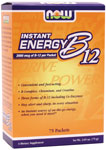 Instant Energy B-12  ( 2,000 mcg of B-12 per packet ) - 75 Packets, NOW Foods