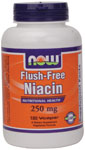 Flush-Free Niacin 250 mg - 180 VCaps, NOW Foods
